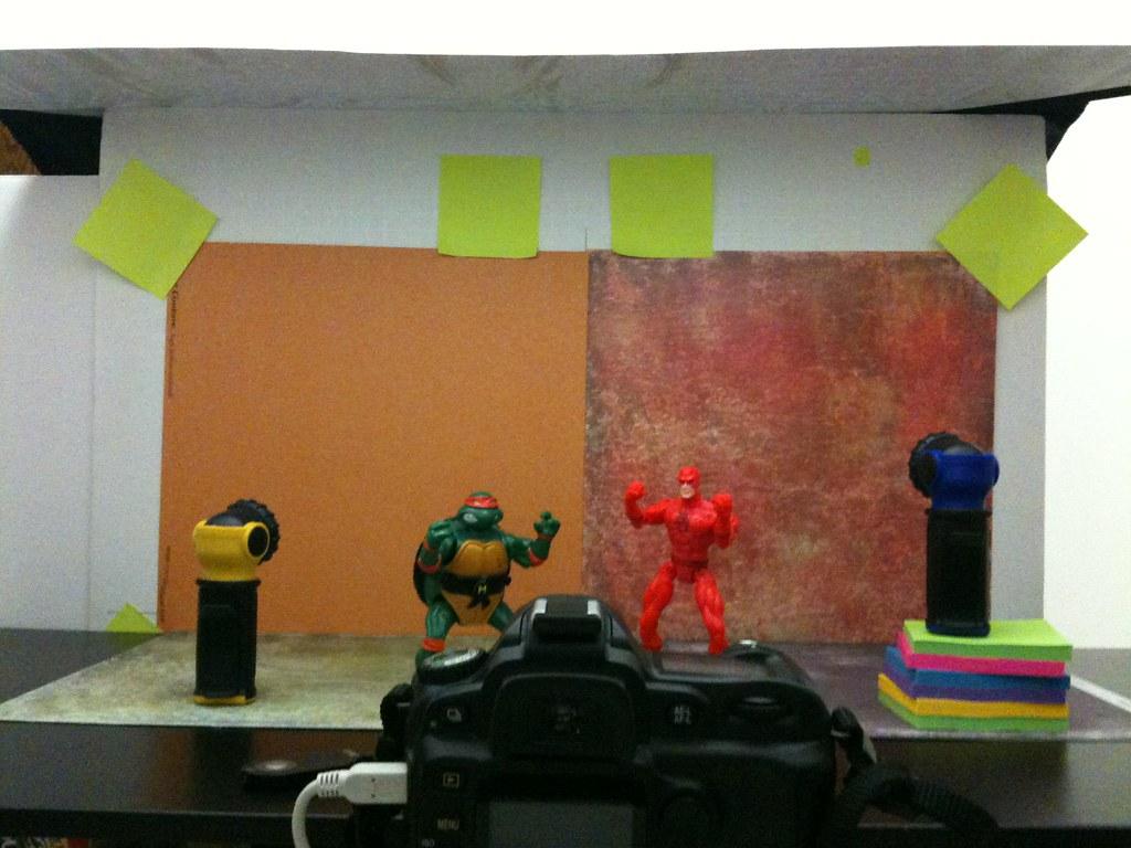 Michelangelo vs. Daredevil Setup