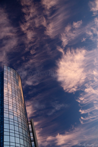 ireland sunset cloud tower glass limerick riverpoint