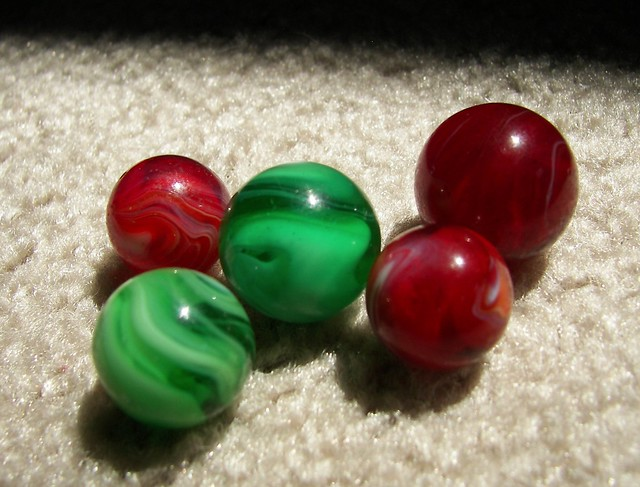 2 Red Marbles : Red marbles green flickr photo sharing