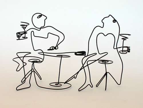 Line Drawing Famous Artists : Dark roasted blend continuous line art