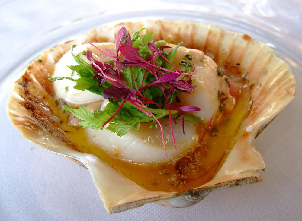 Scallops with Pancetta iberico