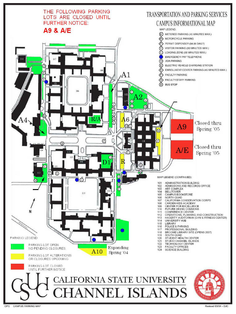 Campus Map from 2004 | California State University Channel Islands