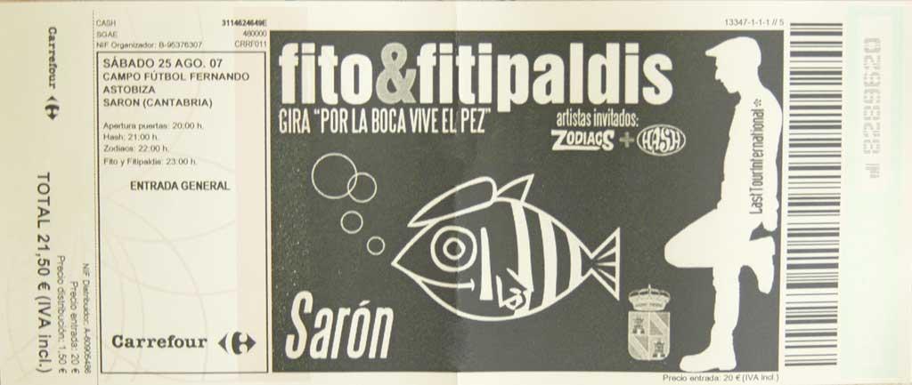 Entrada Fito & Fitipaldis+Zodiacs+Hash