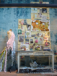 anthropologie craft room window display 1