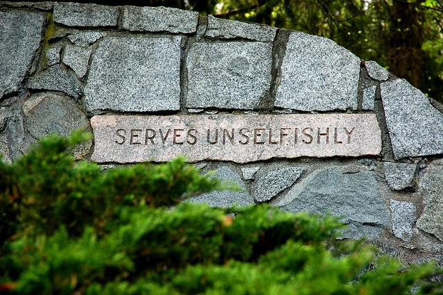 Serves Unselfishly In Stone Seward Park Seattle