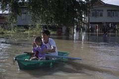 natural disaster, flood, vehicle, watercraft rowing, boating, disaster, boat,