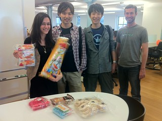 Japanese @foursquare superusers come to HQ bearing strange but compelling snack gifts
