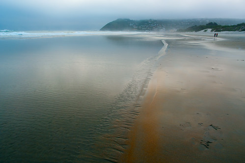 light sea newzealand mist beach fog reflections sand angle pentax tide wide wideangle nz getty otago dunedin ripples pentaxda14mmf28ed ©borealnz