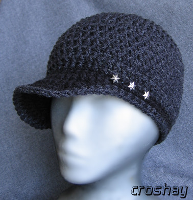 How to Crochet a brim on a beanie cap « Knitting & Crochet