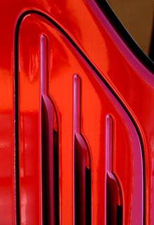 red abstract curve