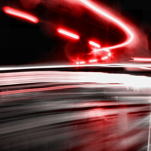 abstract blur bus night lights photo bc outdoor britishcolumbia motionblur sidney liquidlight doubledecker selectivedesaturation bctransit blinkinglight