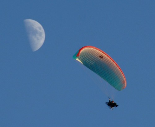 Parasail and moon