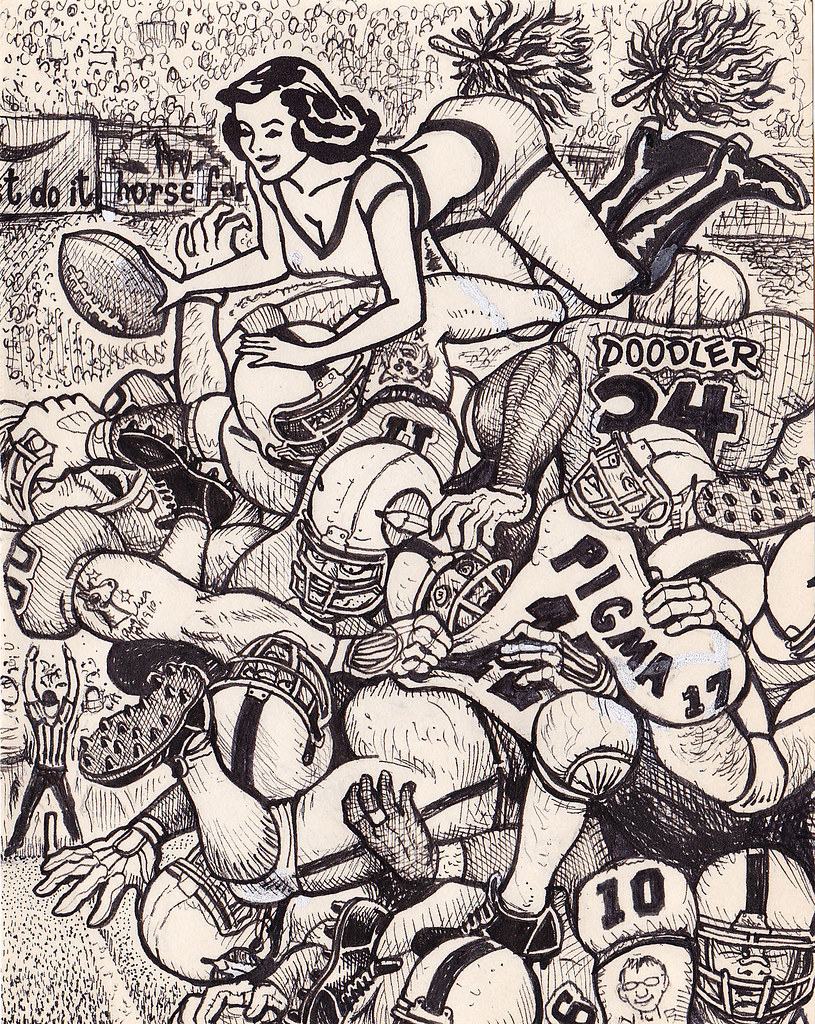 Do it yourself doodler suggestive pin up girl gets fleshed out in diyd34football do it yourself doodler solutioingenieria Images