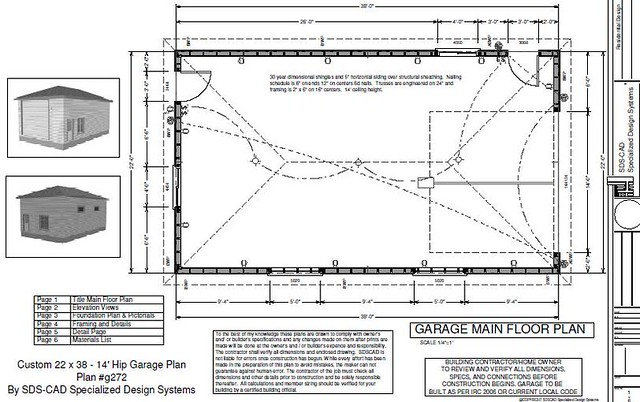 Download rv garage plans g272 22 x 38 x 14 hip roof rv g for Hip roof garage plans