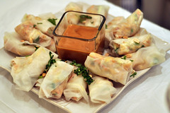 hors d'oeuvre, dim sum food, meal, breakfast, spring roll, produce, food, dish, cuisine, chinese food,