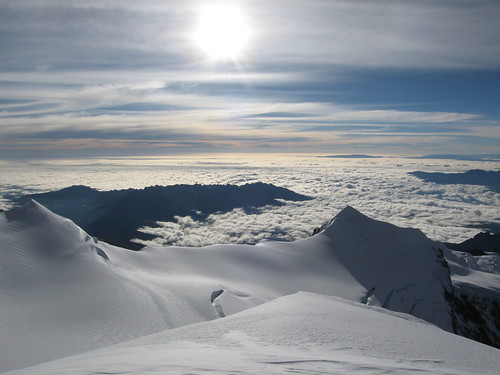 View from Illimani (6433 meters)  to a cloud inversion over the amazon basin