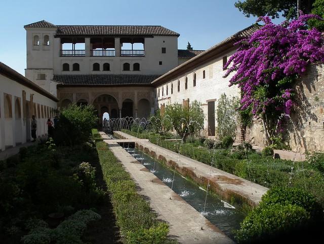 Generalife water gardens, Alhambra, Grenada