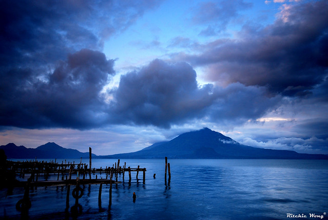 Sunrise by Lake Atitlan