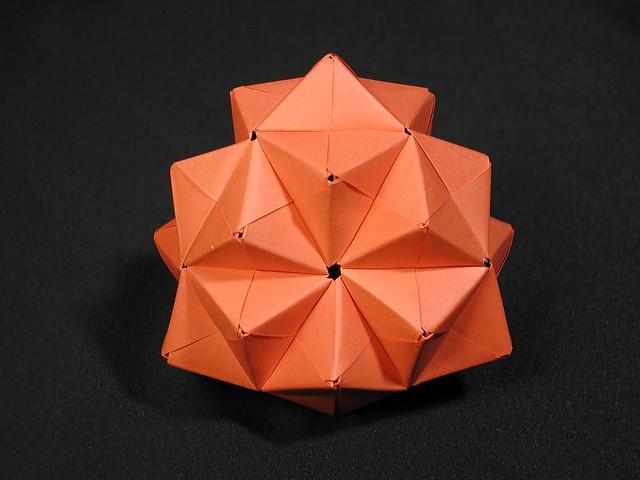 truncated tetrahedron 1 modular origami flickr photo