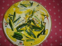 Omelette with Garlic Shoots