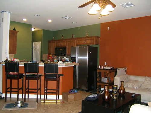 Painting the family room kitchen combo kitchen design Kitchen and living room color combinations