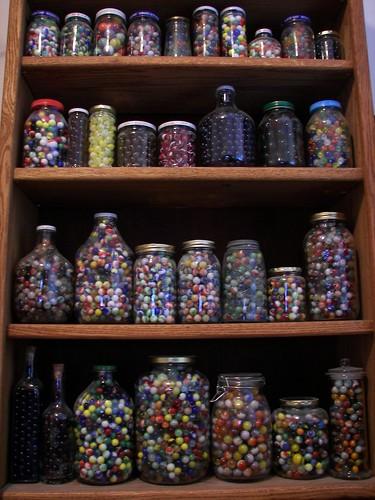 Lots of Marble Jars