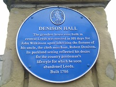 Photo of John Wilkinson and Denison Hall, Leeds blue plaque