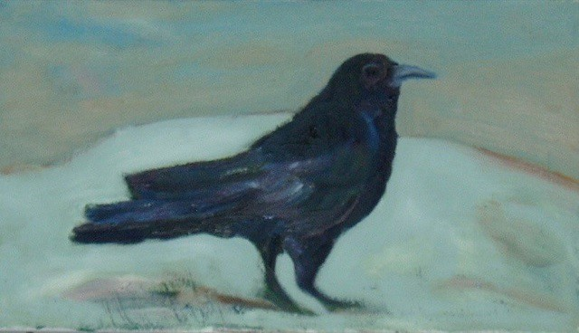 corvus corax  #painting #followart  #oil  on linen   41x27cm