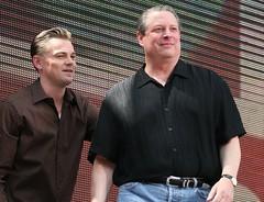 Leonardo DiCaprio & Al Gore @ Live Earth, Giant Stadium
