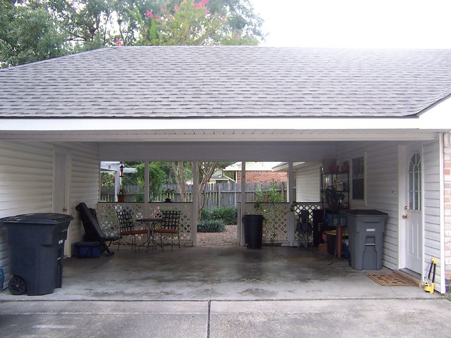 Carport with storage room workshop flickr photo sharing Carport with storage room