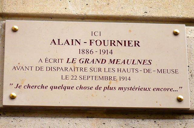 19 septembre 2007 Paris Rue Cassini Plaque Alain-Fournier
