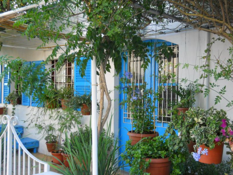 La terraza azul