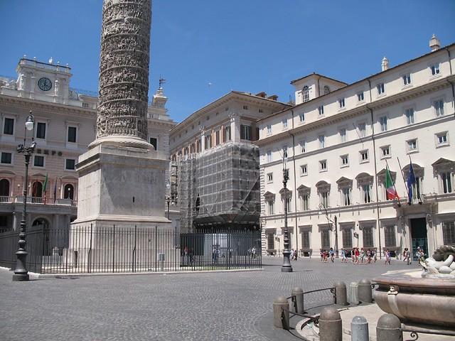 Piazza colonna con palazzo chigi e montecitorio by for Piazza montecitorio 12