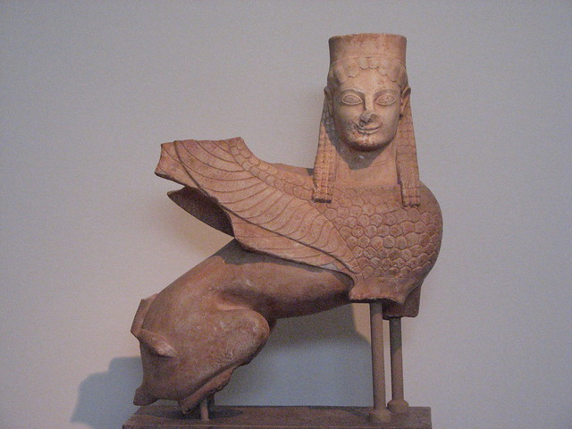 Sphinx. National Archaeological Museum of Athens.