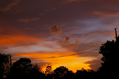 trees sunset sky clouds florida powerlines justpentax