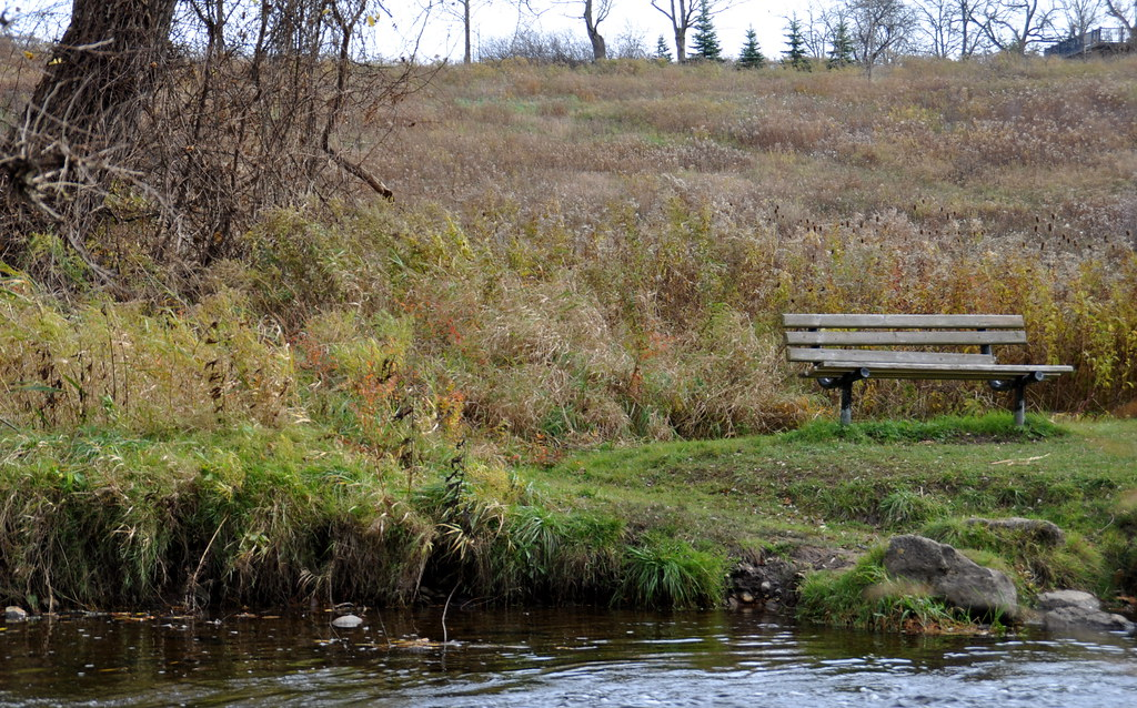 Lowville Park - a spot to rest by Bronte Creek.