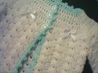 Free Crochet Pattern L10113 Simple Raglan Baby Jacket