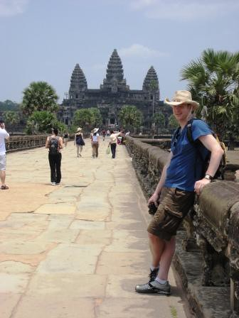 John at Angkor Wat
