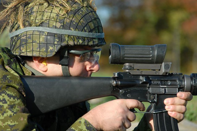 Canadian Forces C7 Rifle 5.56mm Shoot