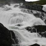 Waterfall along the Sognefjellsveg road