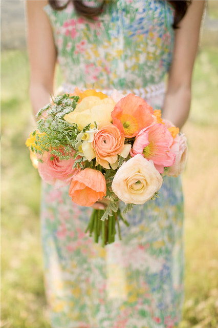 Poppy & Rose Bouquet-From Inspiration to Reality-Beth Helmstetter-Style Me Pretty-Camille Styles