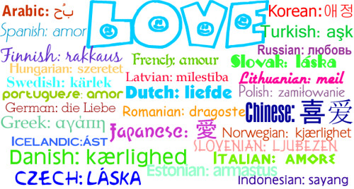 LOVE in 28 different languages | Flickr - Photo Sharing!