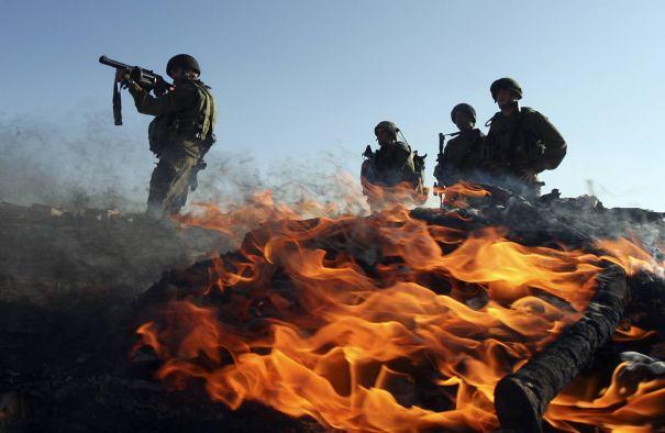 Israeli Soldiers, by Nayef Hashlamoun