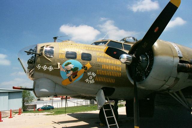 Nine O Nine B-17 Bomber Nose  B17 Bomber Nose Art