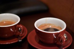 coffee milk(0.0), caf㩠au lait(0.0), caff㨠macchiato(0.0), espresso(1.0), cup(1.0), coffee(1.0), ristretto(1.0), coffee cup(1.0), turkish coffee(1.0), caff㨠americano(1.0), drink(1.0), caffeine(1.0),