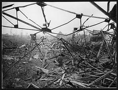 How ironwork crumples up under artillery fire