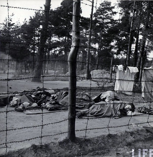 Bergen Belsen, dead and dying, by George Rodger 1945