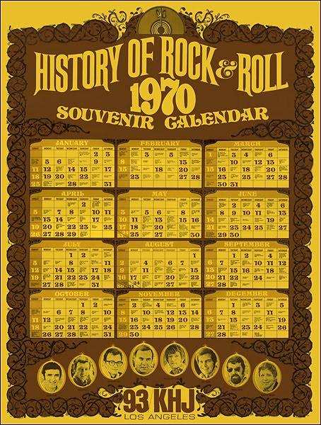 1970 - KHJ 1970 Souvenir Calendar