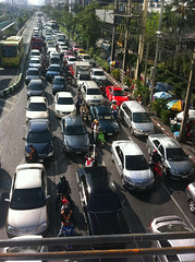Friday traffic in bangkok