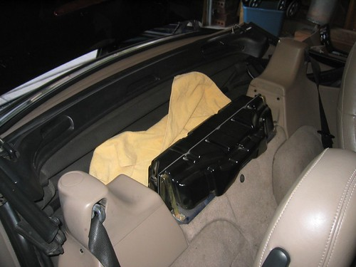 Help creative solution for center console needed for 1997 bmw z3 rear window replacement